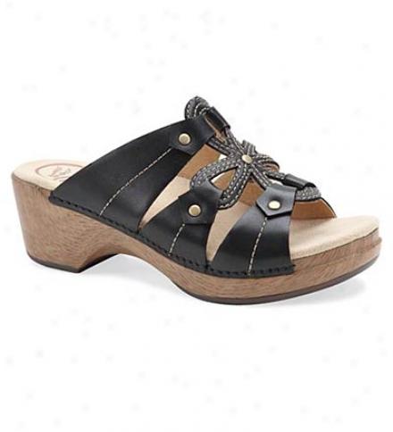 Dansko® Leather Shock-absorbing Serena Sandals