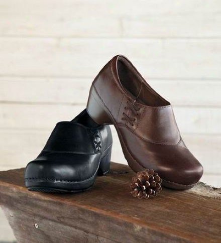Dansko® Leather Stacie Clogs