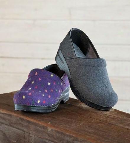 Dansko® Professional Closed-heel Flannel Clogs