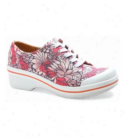 Dansko® Sanibel Collection Veda Print Canvas Lace-up Shoes