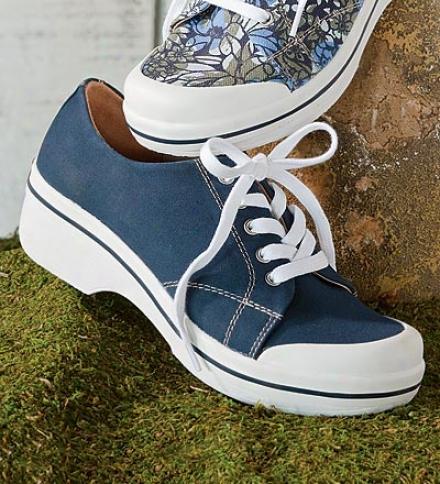 Dansko® Sanibel Collection Veda Solid Canvas Lace-up Shoes