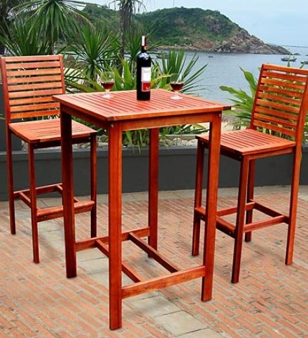 Dartmoor Bar-height Plantation-grown Solid Teak Doning Set