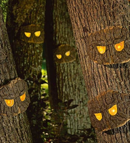 Decorative Halloween Scary Tree Eyes