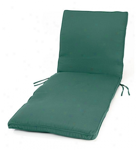"Deluxe Chaise Cushuon With Ties74-1/4"" X 23-1/4"" X 3-1/4"", Hinge At 46"""