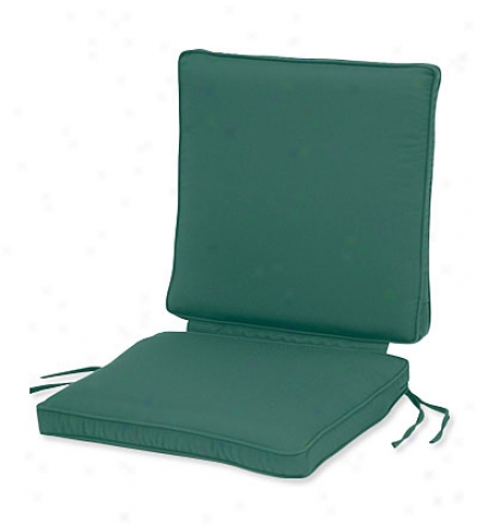 "Deluxe Seat-and-back Chair Cushion In the opinion of Tiesseat:  19""w X 17""l X 3""dback:  19""w X 19""l X 3&qyot;d"