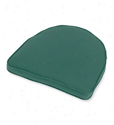 "Deluxe Tapered Rounded Back Chair Cushion, No Ties17-1/2"" X 15-1/2"" X 3"""