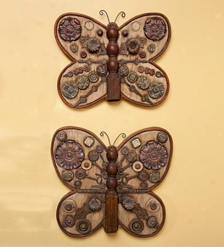 Detailed Resin Butterfly Wall Hanging