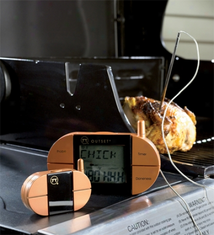 Digital Remote Meat Thermometer With Easy-to-read Lcd Screen