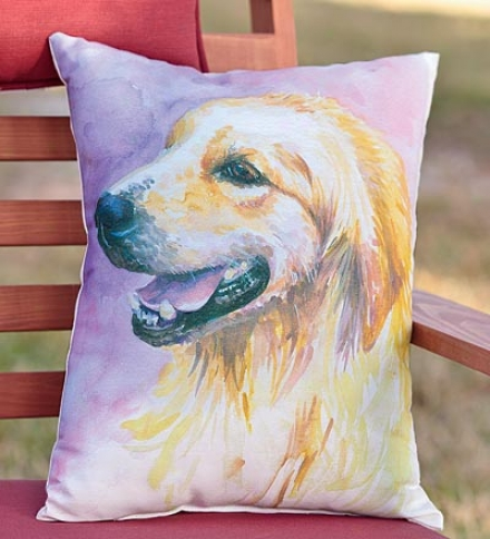 Dog Photo-printed Throw Pillowsbuy 2 Or More At $27.95 One and the other