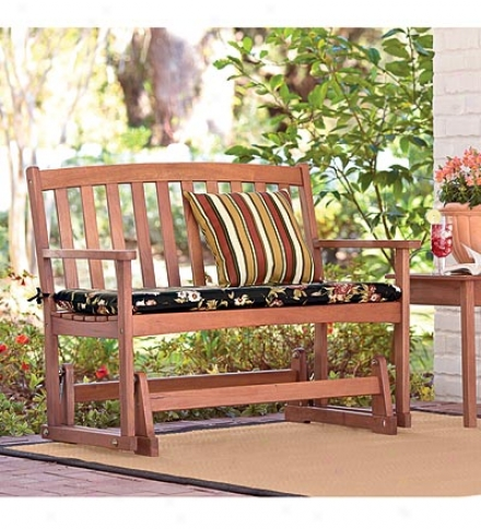 Durable, All-weather Fsc-certified Eucalyptus Wood Outdoor Love Seat Glider