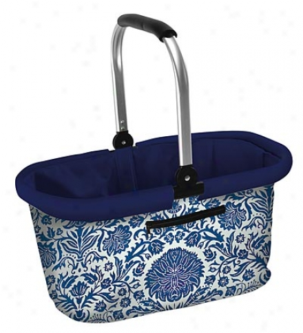 Easy-carry Folding Market Basket With Easy-grlp Handle