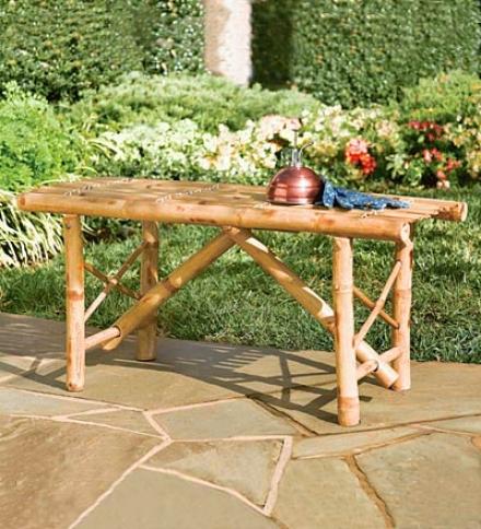 Eco-friendly Folding Natural Bamboo Bench