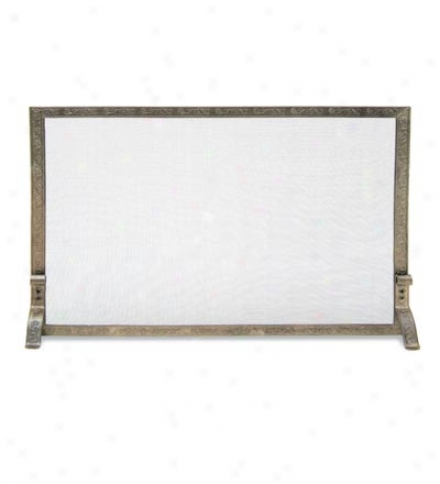 Embossed Flat Panel Fire Screen