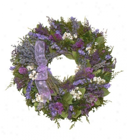 English Lavender Bouquet Wreath