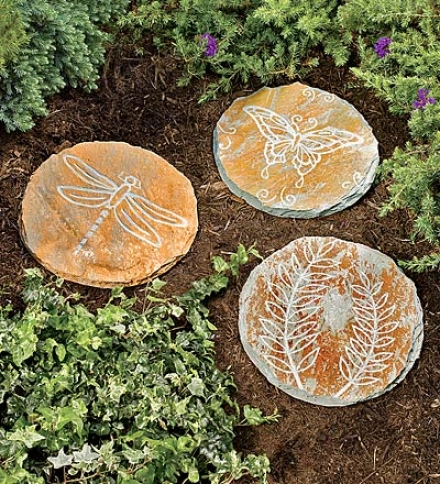 Etched Slate Garden Stepping Stonebuy 3 Or More At $10.95 Each