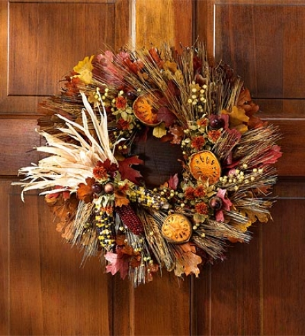 "Fall Harvest Garland, 22"" Dia."