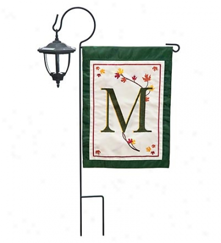 Fall Leaves Monogram Garden Flag