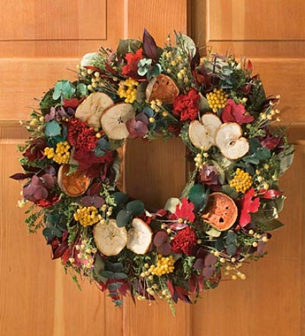"Fall Orchard Wreath, 22"" Dia."