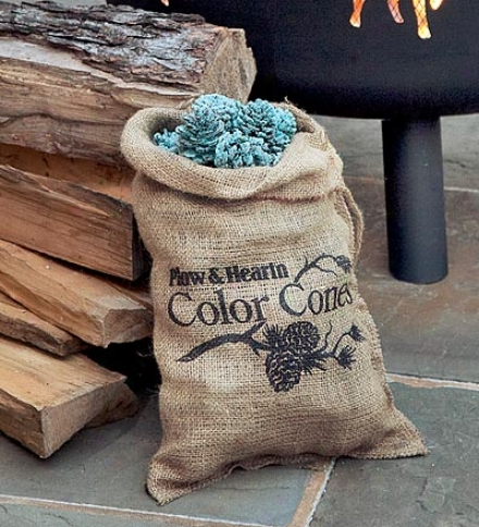 Fireplace Color-changing 1 Lb. Color Cones In Basket