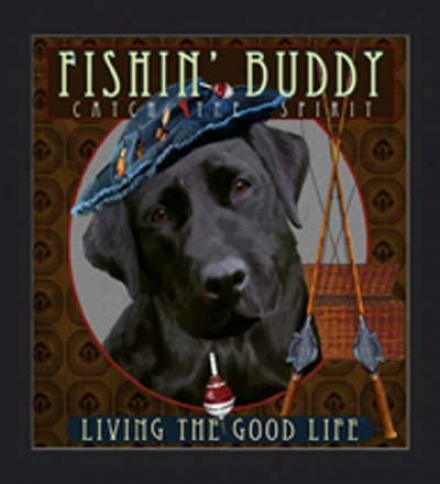 Fishin' Buddy Print By Tim Mcfadden