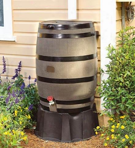 Flat-back Rain Barrel