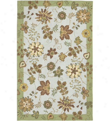 Flowers Wool Rug, 5' X 8'