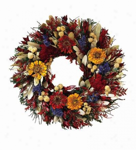 "Folk Art Wreath, 22"" Dia."