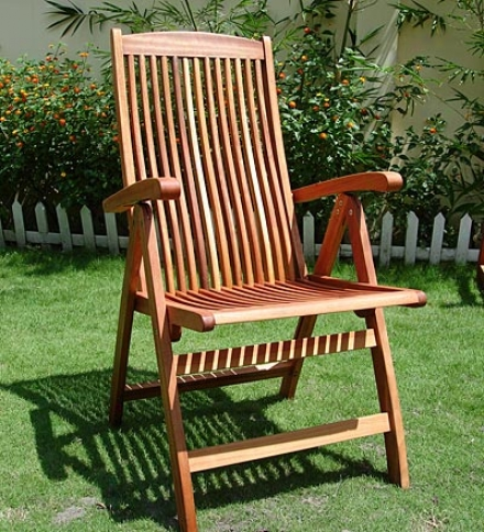 Foret Stewardship Council Certified Eucalyptus 5-position Reclining Chair