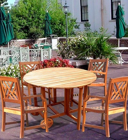 Forest Stewardship Council-certofued Eucalyptus Outdoor Patio Set