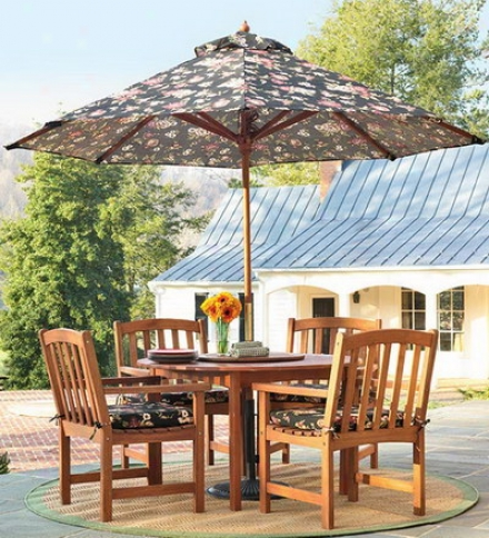 Forest Stewardship Council-certified Eucalyptus Oval Dining Table And Four Chairs Setsave $79.80 On A Set!
