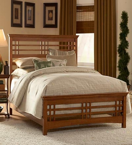 "Full Bed With Side Rails82""l X 58-1/4""w X 50""h"