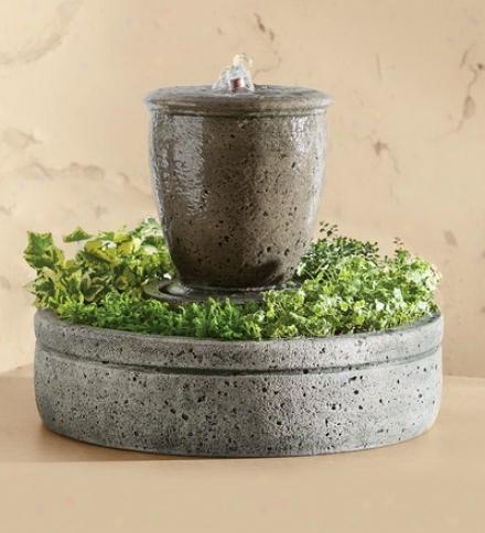 Genuine Stone Planter Fountain