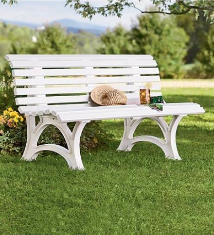 """Geerman-made, Weatherproof Resin Garden Bench59"""" X 26-1/2"""" X 31-1/2""""h"""