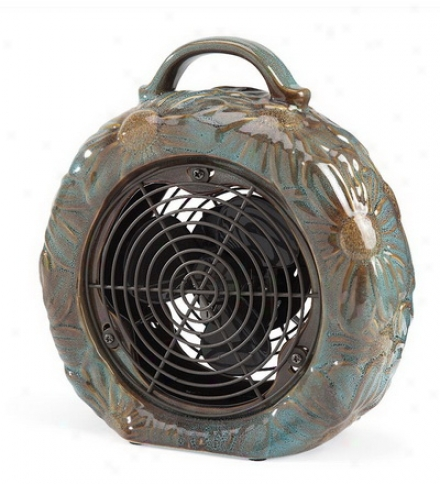 Glazed Ceramic Single-speed Tabletop Fan