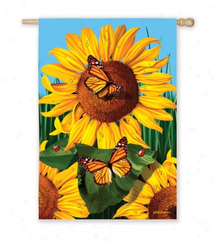 "Golden Wonders Garden Flag 12-1/2""w X 18""l"
