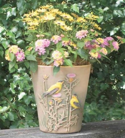 """Goldfinch 10"""" Planter"""