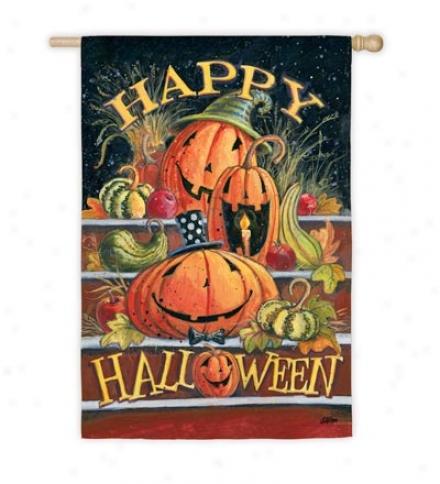 Halloween Steps House Flag