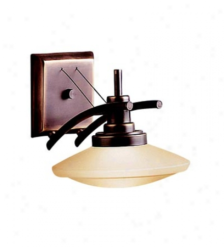 Halogen Wall Sconnce In Bronze Finish
