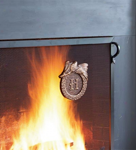 Hand-cast Aluminum Monogram Fire Screen Loadstone
