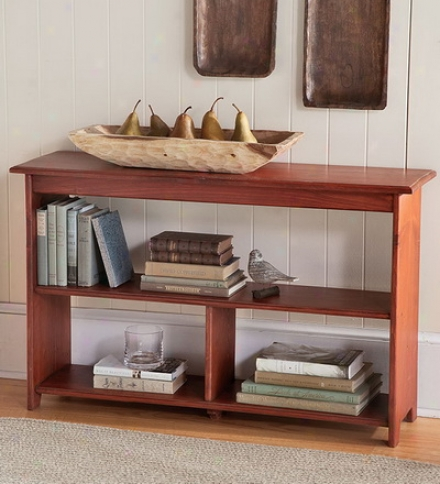 Hand-finished Tall Pine Bookcase With Three Shelves