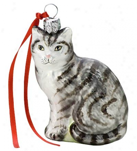 Hand-painted Assorted Glass Cat Ornaments