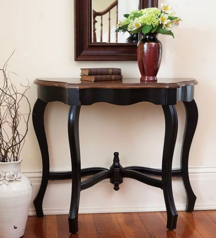 Hand-painted Wooden Hall Table