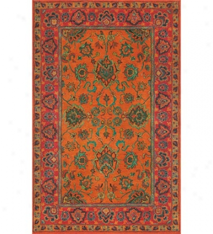 Hand-tufted Wook Traditional  8' X 10' Rug In Contemporary Colors