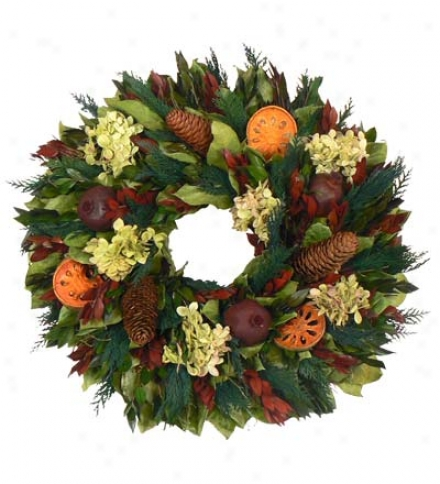 "Handcrafted 18"" English Cascade Mountain Wreath"
