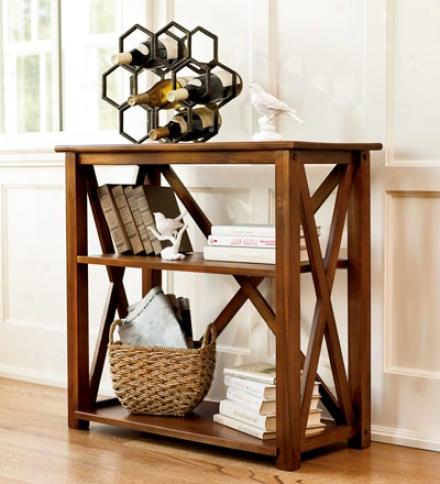 Handcrafted Newport Hardwood 2-shelf Bookcase