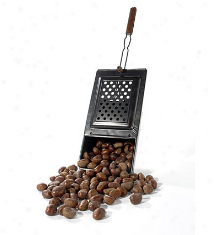 Handcrafted Non-stick Metal Handheld Fireplace Chestnut Roaster