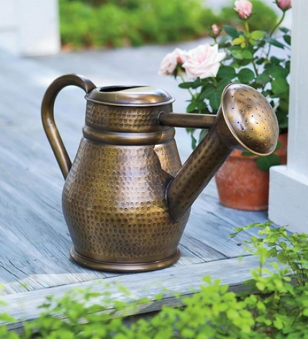 Handmade Hammered Metal Antique Style Watering Can