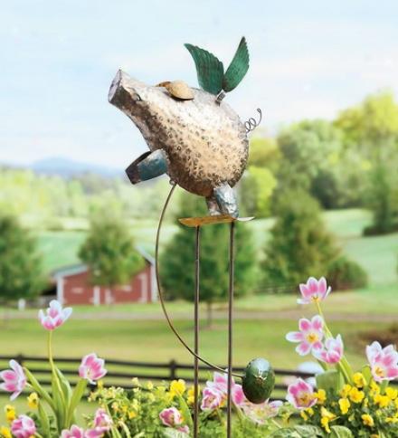 Handmade Hammered Metal Flying Pig Balancer