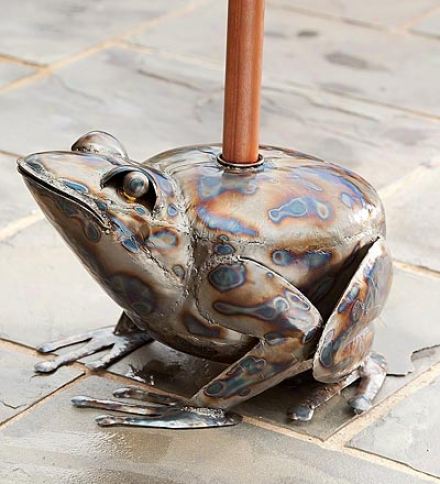 Handmade Hollow Iron Frog Umbrella Stand