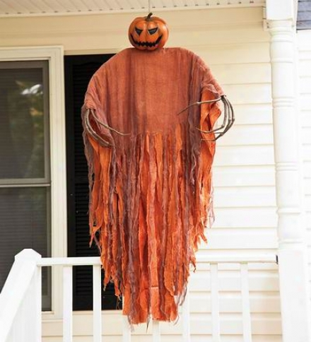 Hanging Pumpkin Scarecrow